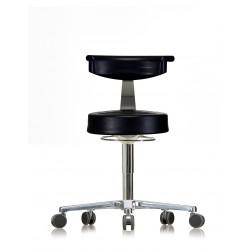 Hocker WS3920 GMP Classic Rückenlehne PUR-Sitz und Armlehne Fuß