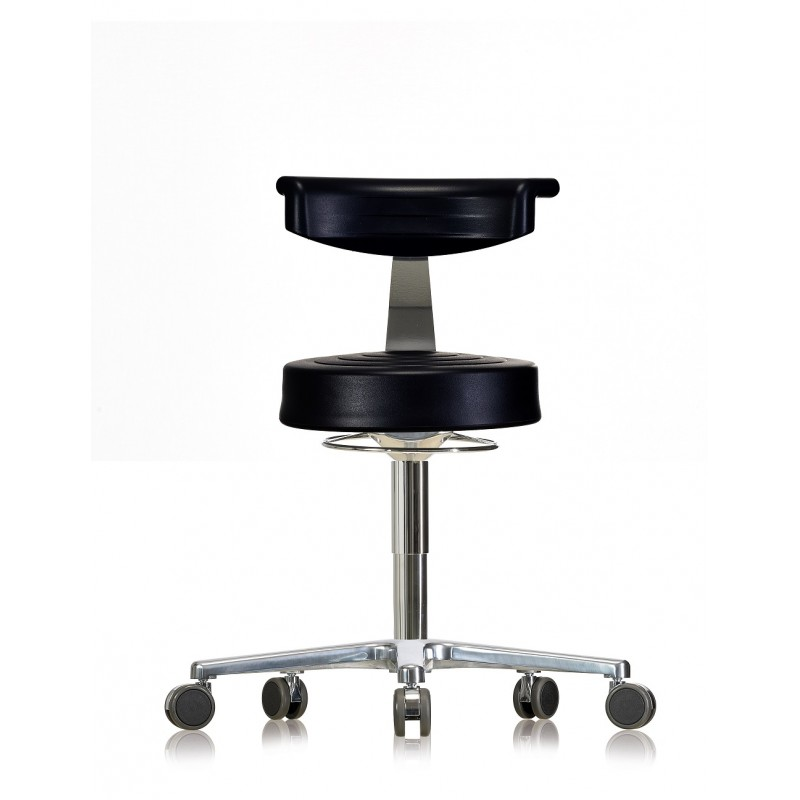 Stool with castors WS3920 GMP Classic seat with Soft-PU 510-660