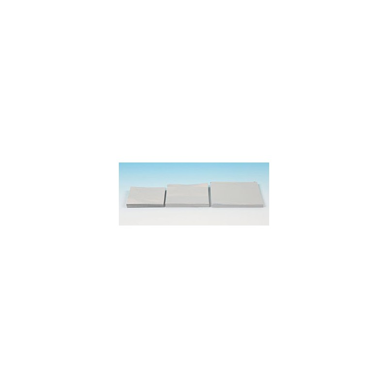Alu sheets foil gauge 0,03 mm width/length 150/150 mm pack 1000