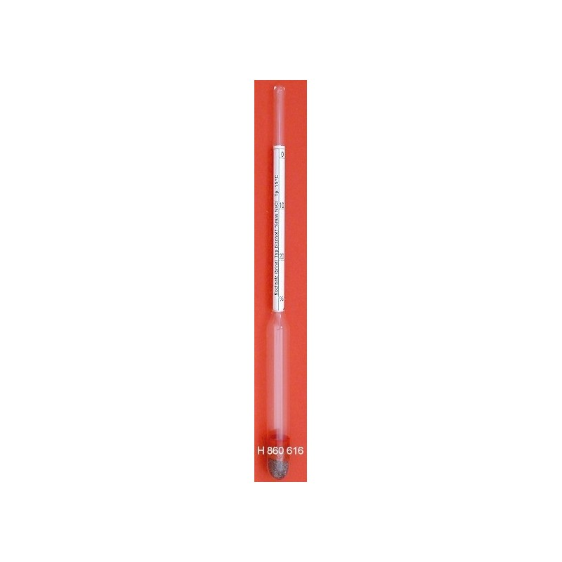 Areometr do glicerolu z termometrem 0...100:1% dł. 360 mm