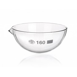 Abdampfschale 2000 ml Borosilikatglas 3.3 Ausguss runder Boden