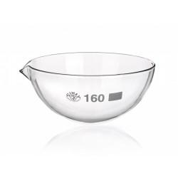 Abdampfschale 3000 ml Borosilikatglas 3.3 Ausguss runder Boden