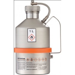 Safety transportation can with screw cap stainless steel 1L
