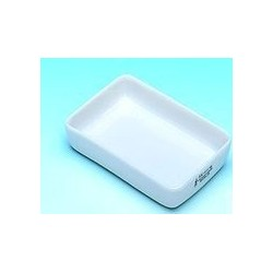 Incinerating dishes rectangular Porcelain galzed LxWxH 55x42x16