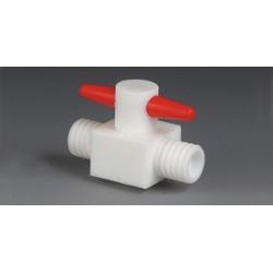 2-drożny zawór PTFE GL 14 średnica otworów 4 mm prosty