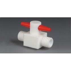 2-drożny zawór PTFE GL 18 średnica otworów 6 mm prosty