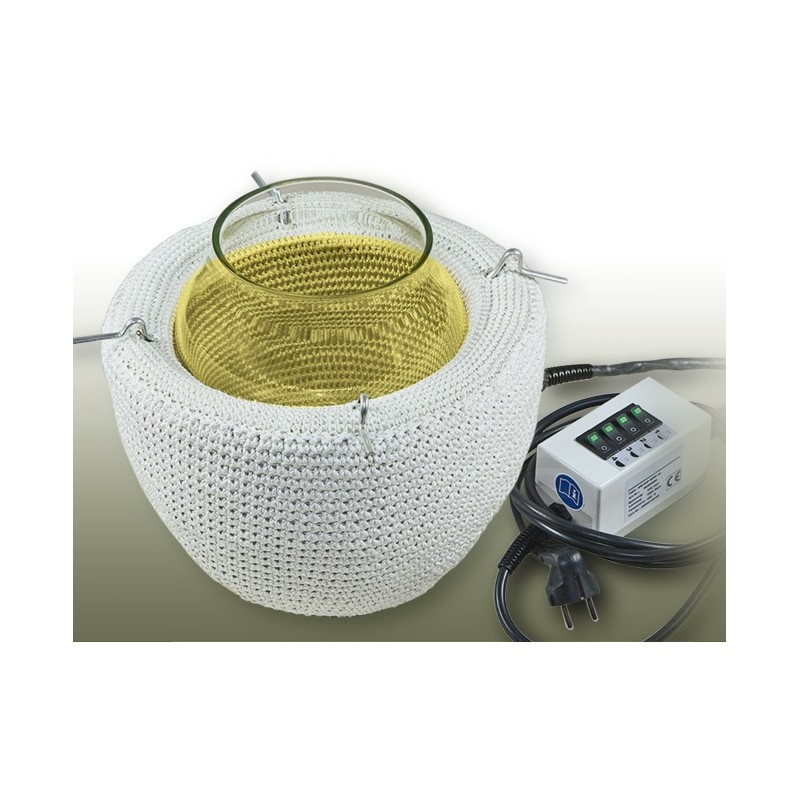 Heizhaube für Planflansch-Reaktionsgefäße 100 ml 450°C 100W