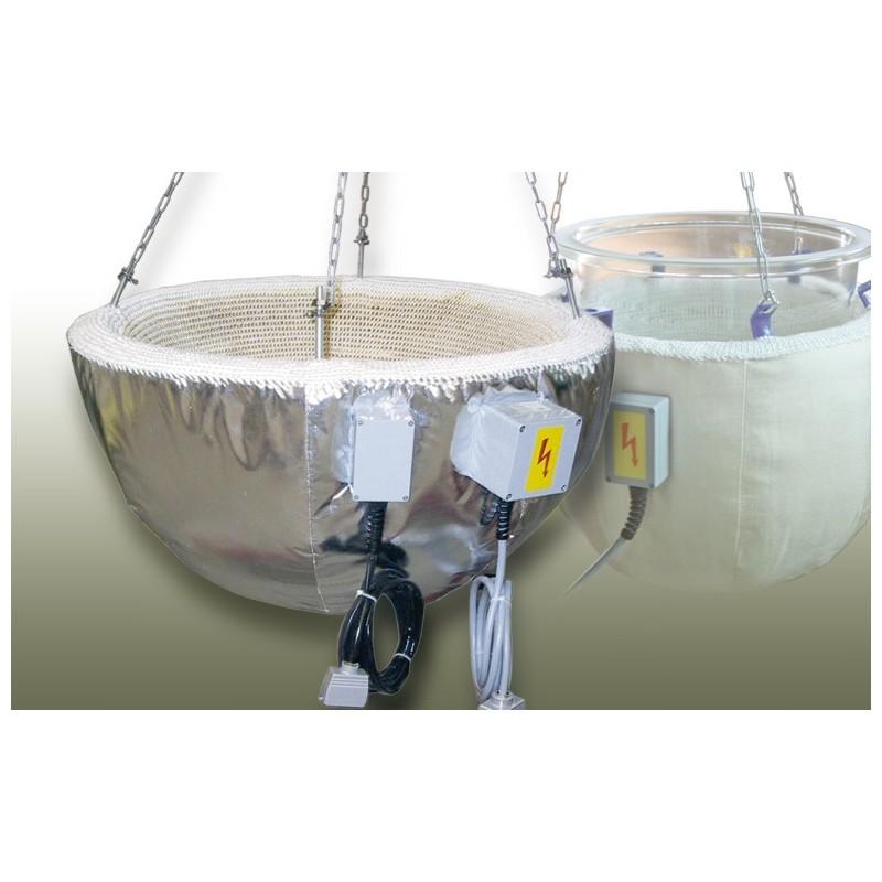 Industrieheizhaube für Kugelgefäße 100L Ø 610 mm 450°C 6000W