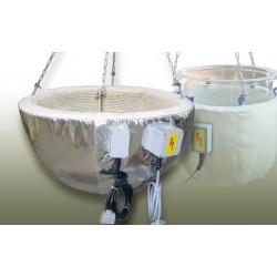 Industrieheizhaube für Kugelgefäße 200L Ø 750 mm 450°C 9000W