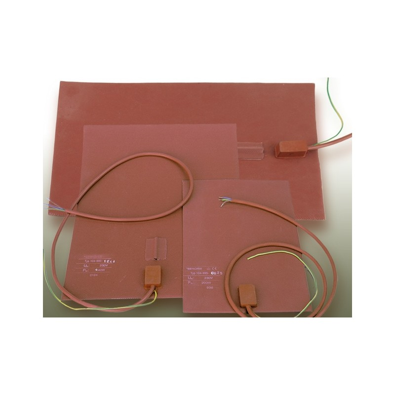 Silicone heating mat with sensor pocket 200 °C 200 W 230 V (297