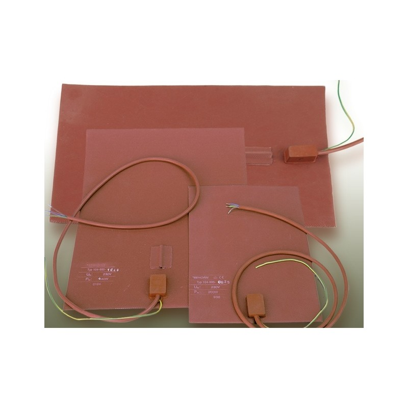 Silicone heating mat with sensor pocket 200 °C 900 W 230 V (594