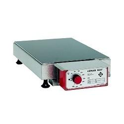 Heizplatte aus CERAN® Tischgerät mit angebautem Regler 50-500°C