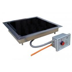 Heizplatte CERAN® Einbaugerät sep. Regler 50-500°C 280x430 mm
