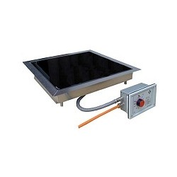 Heizplatte CERAN® Einbaugerät sep. Regler 50-500°C 430x430 mm