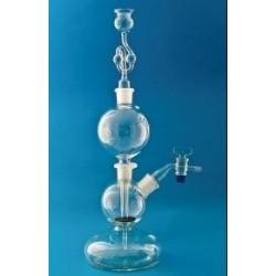Gasgenerator acc.to Kipp 1000 ml globe shaped bottom with