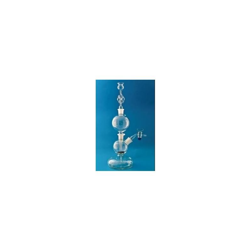 Kipp-Apparate 1000 ml mit halbkugelförmigem Unterteil und NS