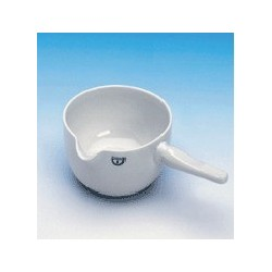 Skillet with porcelain handle 400 ml glased Ø 125 mm height 70