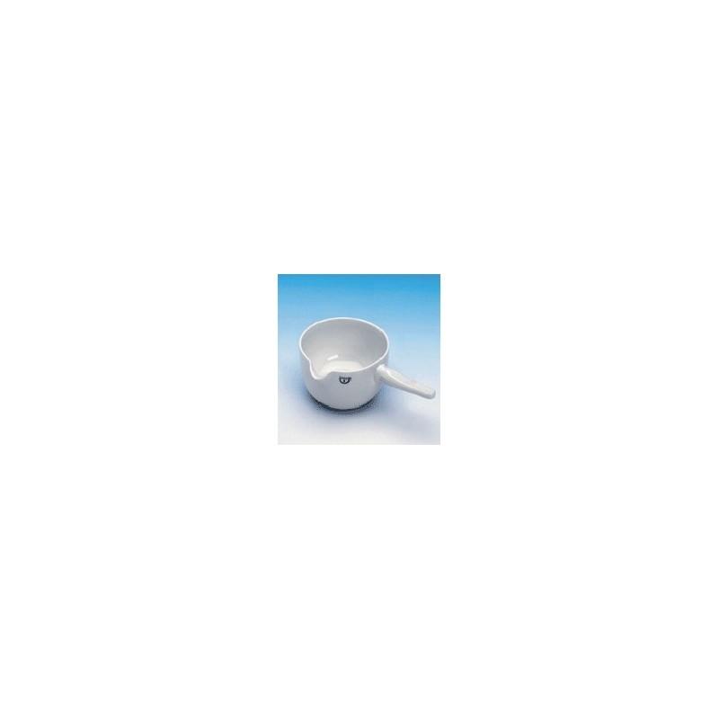 Kasserolle mit Porzellanstiel 400 ml glasiert Ø 125 mm Höhe 70
