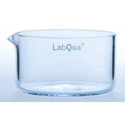 Crystallizing dish 20 ml with spout quartz glass ØxH./mm 40x25