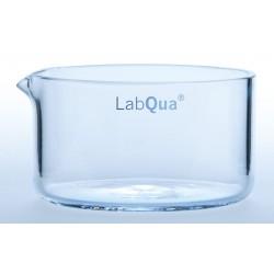 Crystallizing dish 40 ml with spout quartz glassØxH./mm 50x30