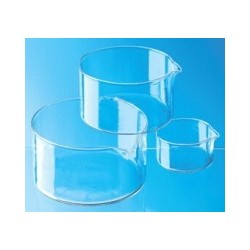Crystallizing dish 100 ml Boro 3.3 with spout
