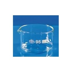 Crystallizing dish 60 ml Boro 3.3 with spout pack 5 pcs.