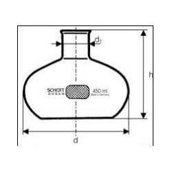 Kolba Fernbacha do hodowli forma brzuchata pojemność 450 ml op.