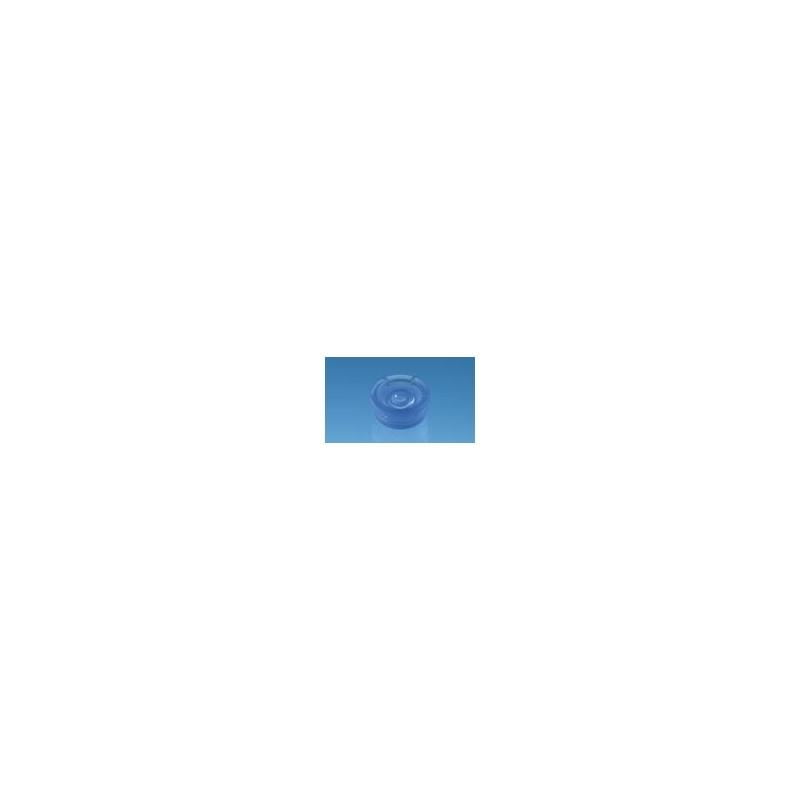 Cap for UV-Cuvette micro PE round blue pack 100 pcs.