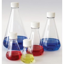 Kolba stożkowa Erlenmeyera 125 ml PETG zakrętka PE sterylna op.