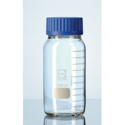 Butelka laboratoryjna 1000 ml szerokoszyjna Duran zakrętka