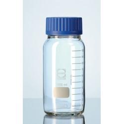 Laborflasche 1000 ml weithals Duran klar Schraubkappe GLS80 blau