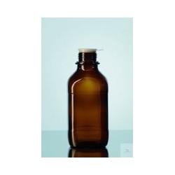 Laborflasche 500 ml enghals Braunglas vierkant ohne