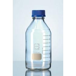 Laborflasche 100 ml mit Schraubkappe PP GL45 blau