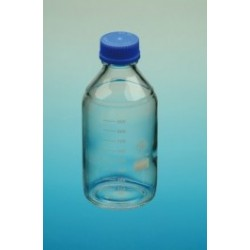 Butelka laboratoryjna 100mL szkło borokrzem 3.3 PP zakrętka