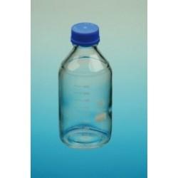 Laborflasche 100 ml Boro 3.3 Schraubkappe PP GL45 blau