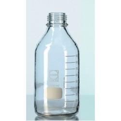 Laborflasche 2000 ml enghals Duran kunststoffummantelt ohne