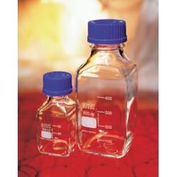 Laborflasche 250 ml Duran vierkant Schraubkappe GL45 blau VE 10
