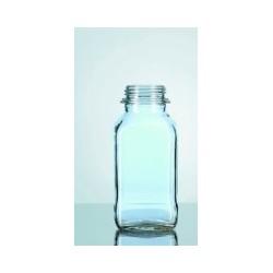 Laborflasche 100 ml weithals vierkant ohne Ring/Kappe GL32 VE