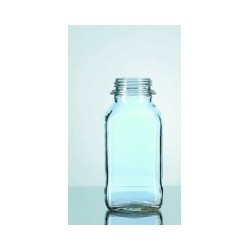 Laborflasche 500 ml weithals vierkant ohne Ring/Kappe GL54 VE