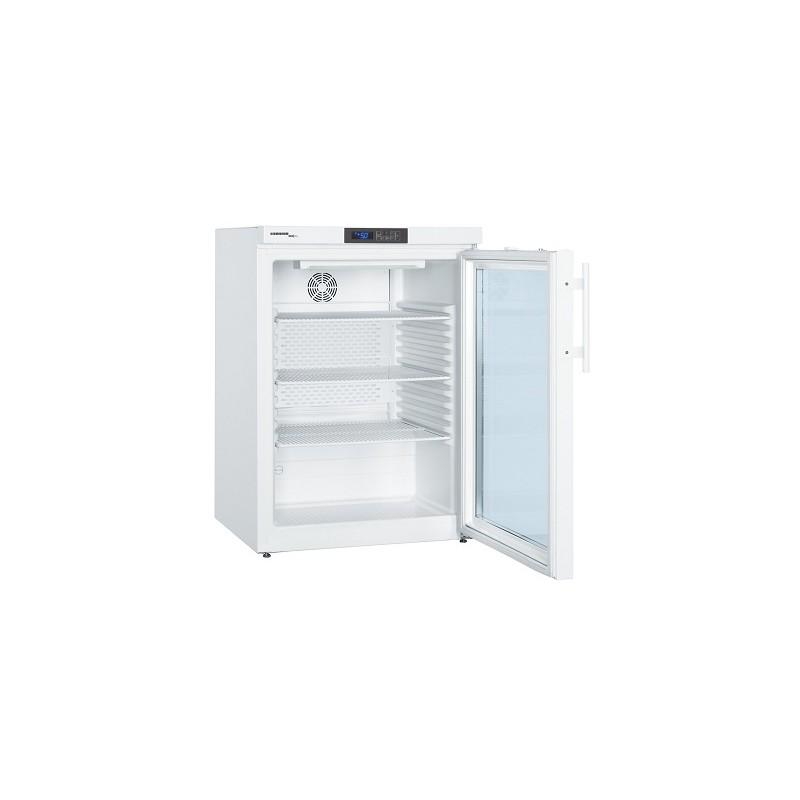 Drug refrigerator MkUv 1613 +5°C conform DIN 58345 glass door