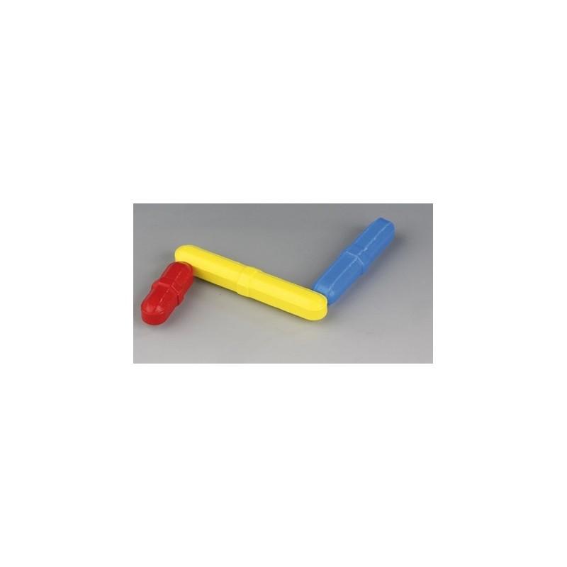 Colour Magnetic Stirring Bars blue PTFE 50 x 8 mm pack 3 pcs.