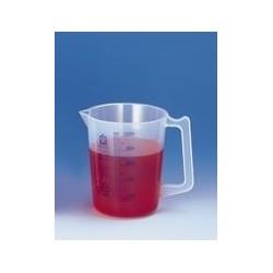 Graduated beaker 500:10 ml PP graduation blue spout handle pack