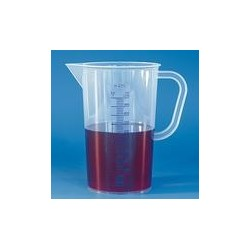 Graduated beaker 2000:50 ml PP graduation blue spout handle