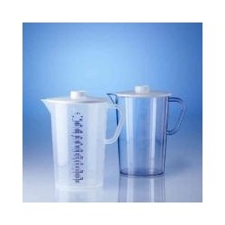Collector 2000 ml PP with lid PC raised scale pack 6 pcs.