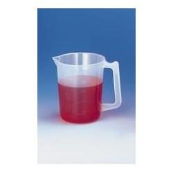 Graduated beaker 1000:20 ml PP embossed scale spout handle