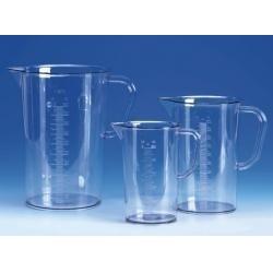 Messbecher 2000 ml SAN glasklar Graduierung erhaben VE 6 Stck.