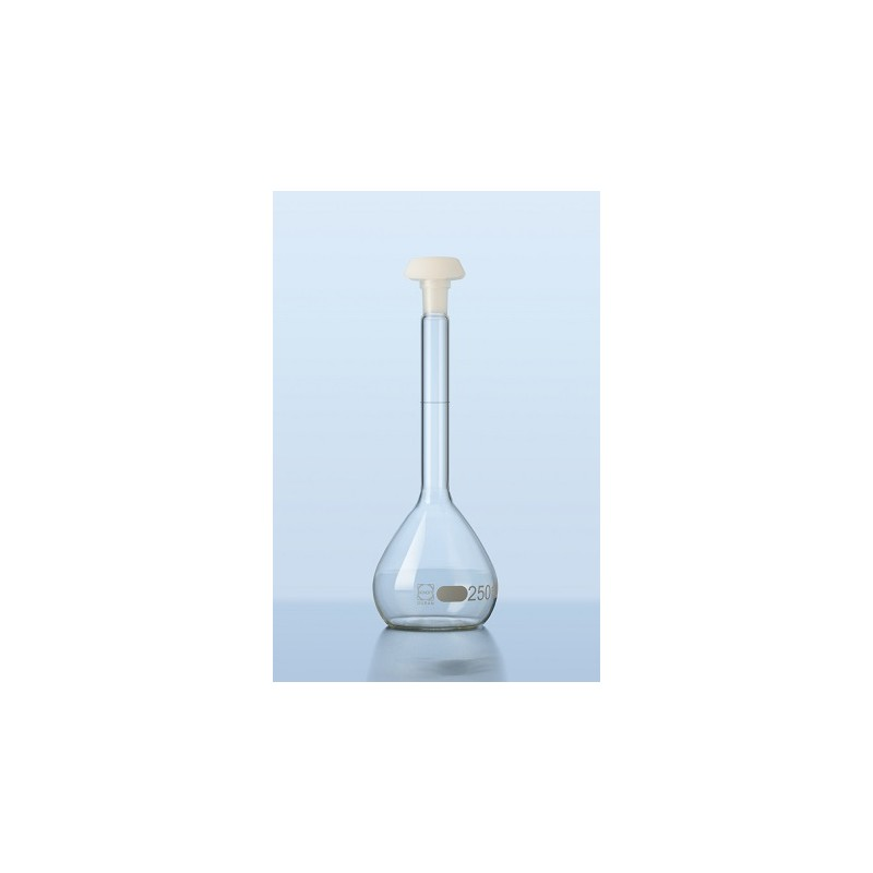 Volumetric flask 25 ml Duran class B stopper PE NS 10/19 pack 2