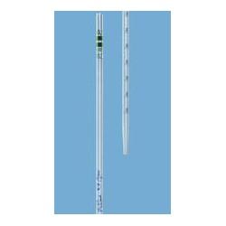 Graduated pipette 0,1:0,001 ml class A AR-glass blue graduation