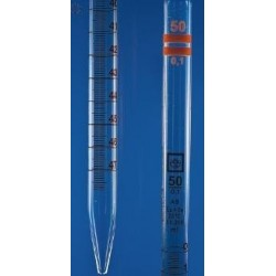 Messpipette 50:0,1 ml Klasse A AR-Glas völliger Ablauf 2xorange