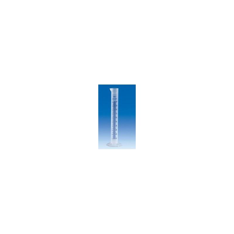 Messzylinder PP 100 ml Klasse B hohe Form erhabene blaue Skala